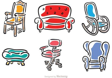 Hand Drawn Chairs Vectors