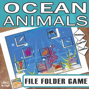 printable ocean animals file folder game itsy bitsy fun With free file folder game templates