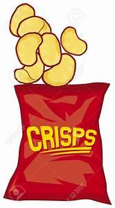 Potato Chips clipart cartoon - Pencil and in color potato ...