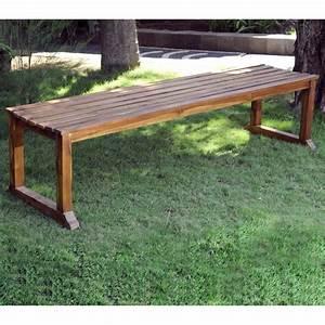 Banc En Teck : banc de jardin en teck huil 180 cm banc ext rieur wood en stock ~ Teatrodelosmanantiales.com Idées de Décoration