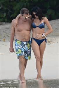 willem dafoe bikini duncan bannatyne cosies up to bikini clad girlfriend