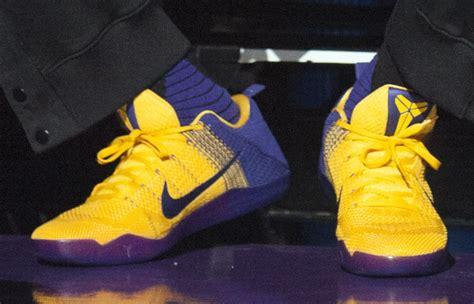 Lakers Nike Kobe 11 Yellow Purple - Sneaker Bar Detroit