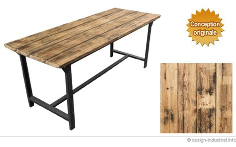 table cuisine style industriel table de style industriel