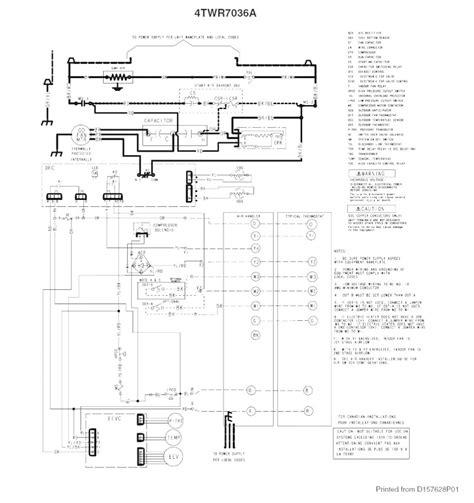 trane heat pump condenser wiring diagram somurich com