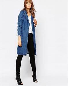 Vero Moda Belted Denim Duster Coat   Denim duster and Vero moda