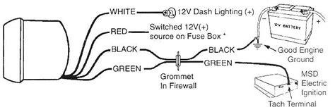 Wiring Diagram For Tachometer by Tachometer Installation Autogage Tach Install In