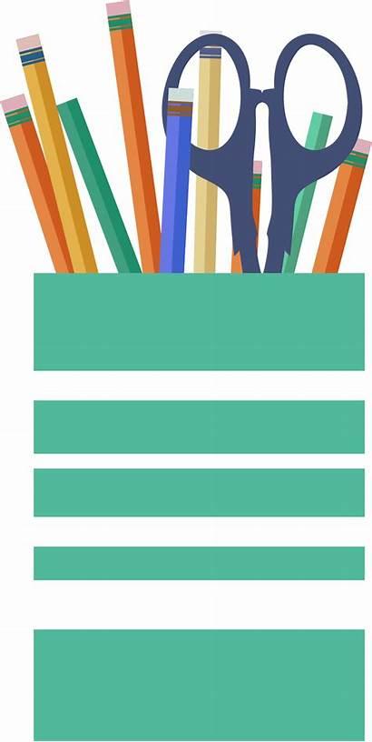 Pen Clipart Pencils Clip Pens Cup Vector