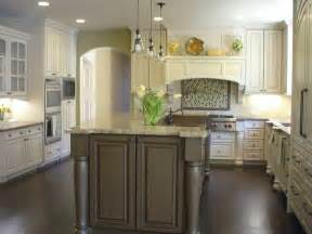 Antique White Kitchen Design Ideas by White Kitchen Cabinets With Dark Island Home Design Ideas