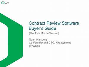 Contract Review Software Buyer U0026 39 S Guide