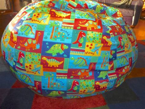 multi colored dinosaur bean bag chair cover primary