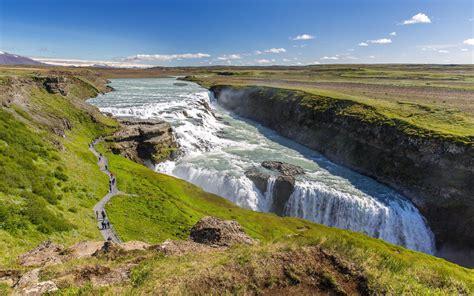 Gullfoss Waterfall Backgrounds by Gullfoss Beautiful Waterfall In Iceland Hd Wallpaper