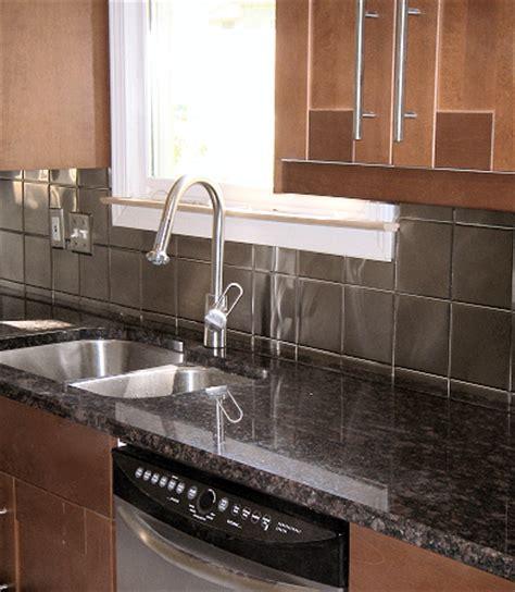stainless steel tile backsplash menards kitchen hudson custom fabrication specializing in