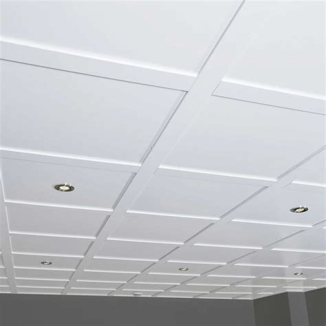 Drop Ceiling Grid by Using Drop Ceiling Tiles To Give Different Home Impression