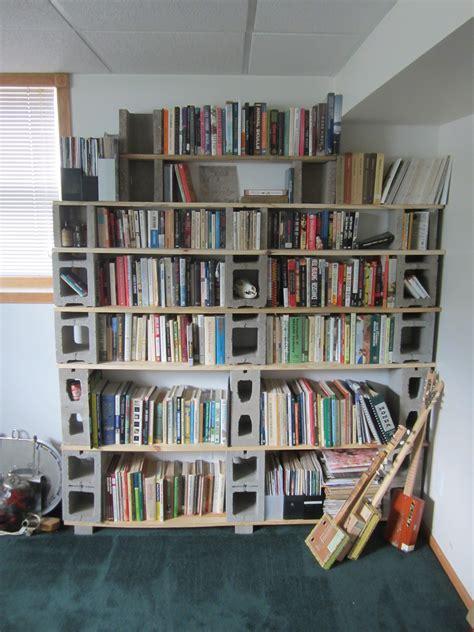 Build Bookcase by Building A Custom Cinder Block Shelf Howandsometimeswhy