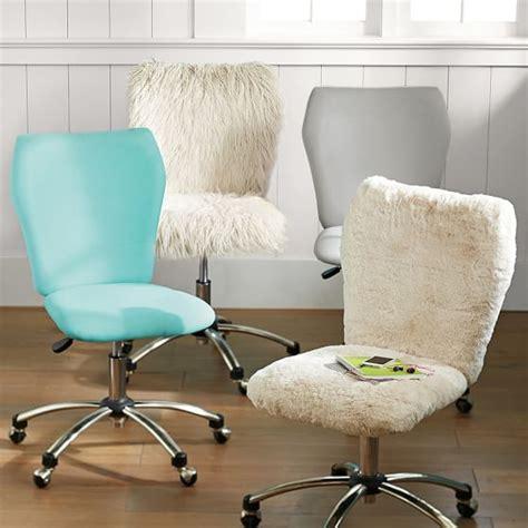 polar faux fur airgo arm armless chair pbteen