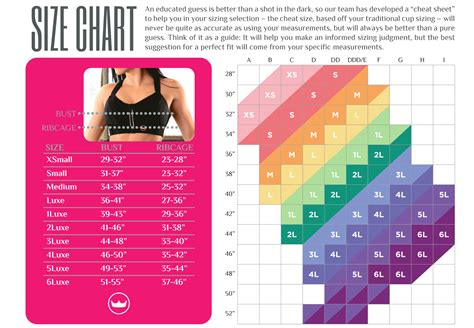 Bra size chart  2018 Printable calendars posters images