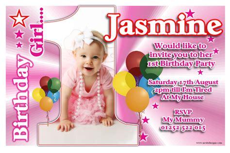 st birthday invitations girl  template baby girls
