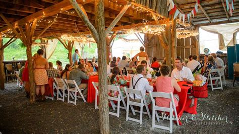 rustic mountain farm wedding venue white fence farm