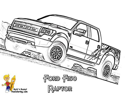 ford raptor lifted american pickup truck coloring sheet free trucks jeep