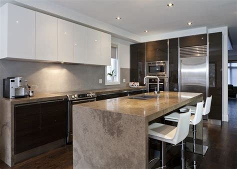 Scavolini Modern Kitchen Dark Wood Glossy White Lacquer