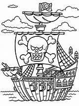 Coloring Pages Pirates Printable Boys sketch template