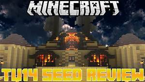 MineCraft PS3 TU14 SEED Review 5 Villages Desert Jungle