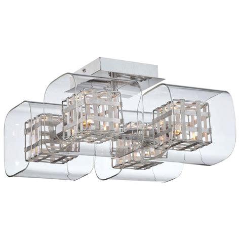 george kovacs 4 light chrome ceiling semi flush mount
