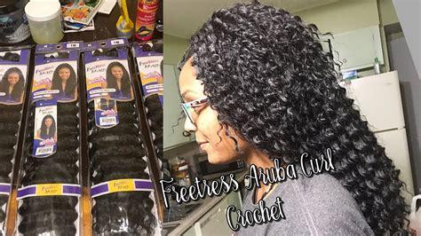 freetress aruba curl  crochet braids youtube