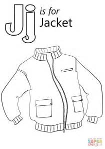 letter    jacket coloring page  printable coloring pages