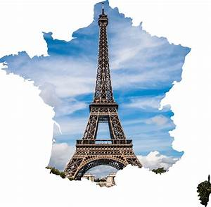Eiffel tower in the Shape of France Vector Clipart image ...