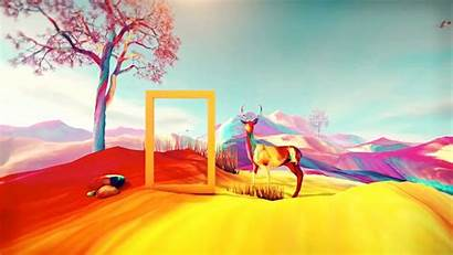 Wallpapers Deer Graphics Colorful Graphic Abstract Tree