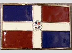 Pewter Belt Buckle National Flag of the Dominican Repiblic