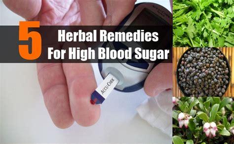 herbal remedies  high blood sugar   control