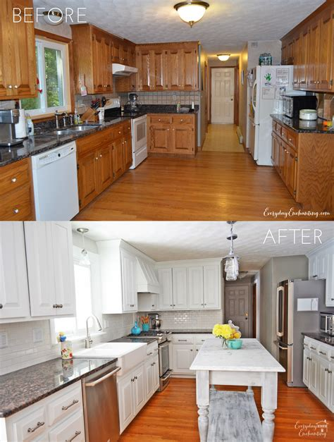 painting oak cabinets white before and after update your kitchen thinking hinges evolution of style 134