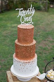 Rose Gold 21st Birthday Cake Ideas