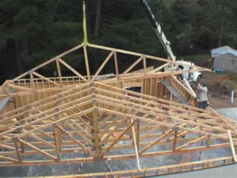 Garage Roof Trusses Youtube