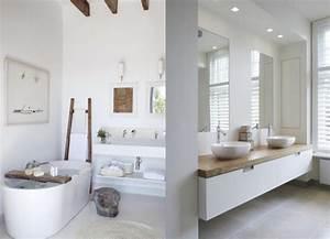 Une salle de bains en blanc et bois - Joli Place