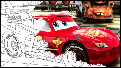 Coloring Book Cars Lightning McQueen Coloring Pages For