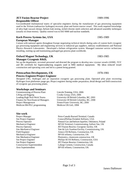 clean project engineer resume template page 3