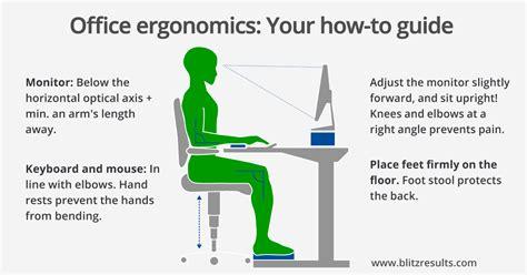 position au bureau ergonomic office calculate optimal height of the desk chair