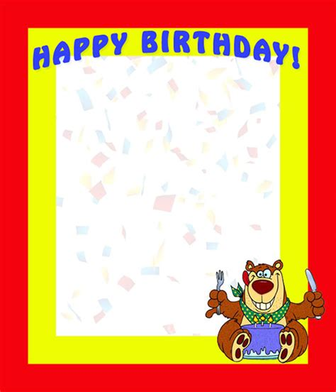 birthday borders happy birthday borders