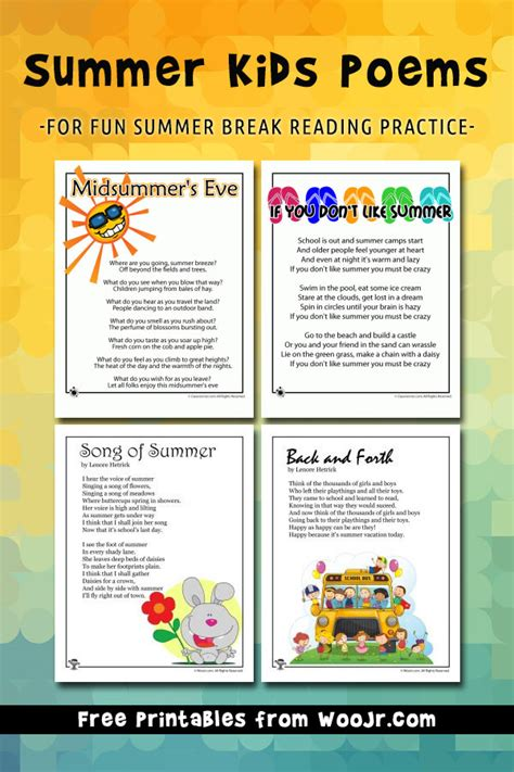 summer kids poems
