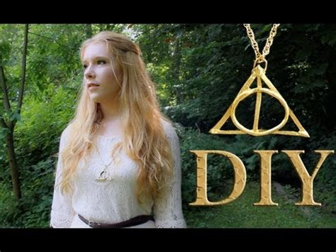 creating a beautiful harry potter diy harry potter and the deathly hallows necklace