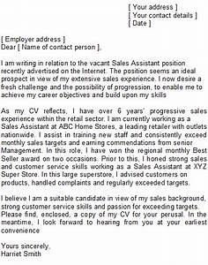 sales assistant covering letter sample With cover letter for a sales assistant job
