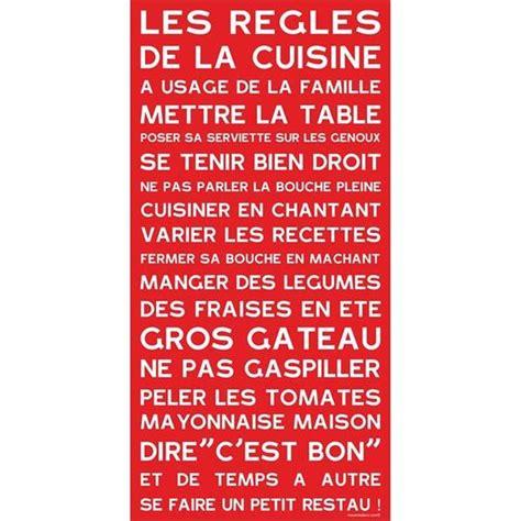 regle cuisine les règles de la cuisine déco règles