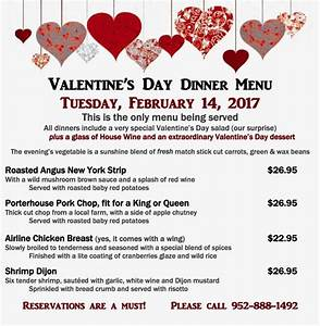 Valentine's Day Dinner Special - Bloomington Event Center