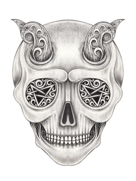 Art Surreal Devil Skull Stock Illustration