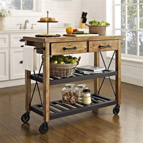 crosley furniture kitchen cart crosley furniture roots rack industrial rolling kitchen