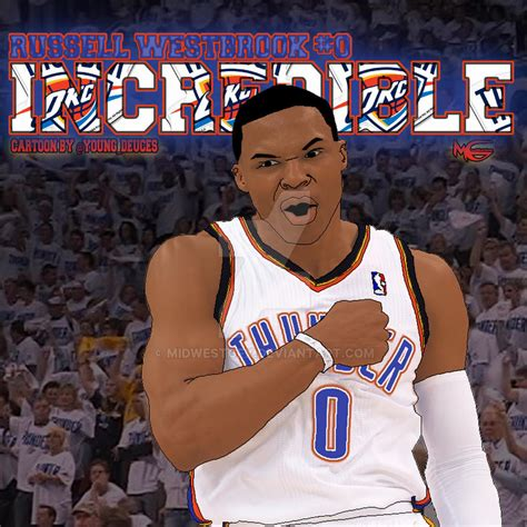 Russell Westbrook Art By Youngdeuces By Midwestgfx On