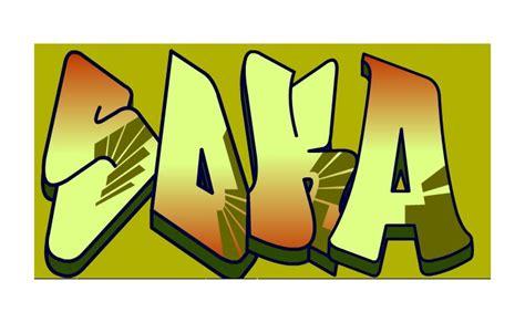 Grafiti Angka : Bikin Graffiti Sendiri